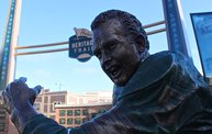 Bart Starr & Clarke Hinkle Sculptures Installed on the Packers Heritage Trail 17