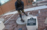 Bart Starr & Clarke Hinkle Sculptures Installed on the Packers Heritage Trail 16