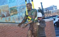 Bart Starr & Clarke Hinkle Sculptures Installed on the Packers Heritage Trail 24