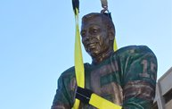 Bart Starr & Clarke Hinkle Sculptures Installed on the Packers Heritage Trail 21