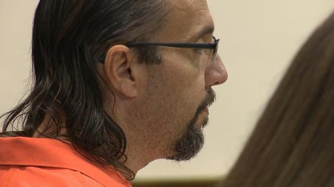 Mark Sperber in court. (Photo from: FOX 11).