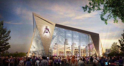 Viking Stadium budget meeting construction costs