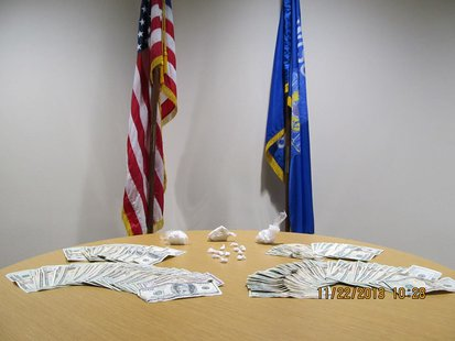 Drugs and cash confiscated by Wisconsin Rapids Police during warrant search