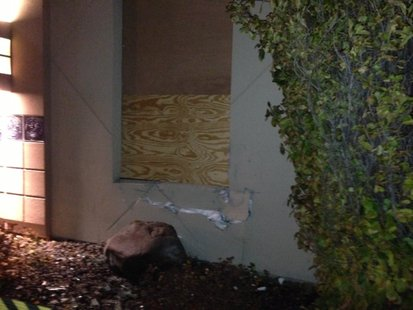 Oneida Casino on Mason Street struck by an alleged drunk driver on Thursday Nov. 21, 2013. (Photo from: FOX 11).