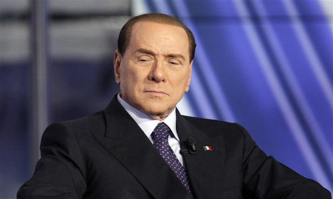 Italy's former Prime Minister Silvio Berlusconi appears as a guest on the RAI television show Porta a Porta (Door to Door) in Rome January 9