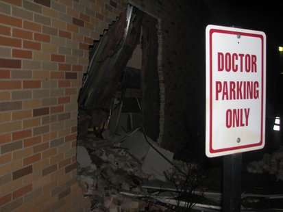 Riverview Hospital damage after SUV crashed into Emergency Department wall