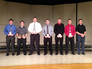 Coldwater High School football awards banquet winners, November 24, 2013