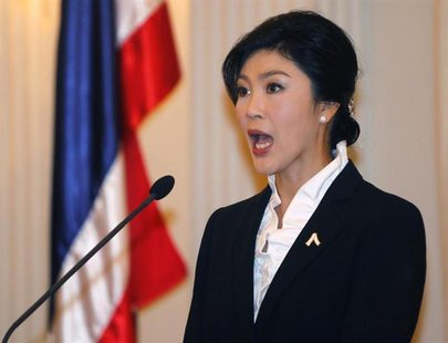 Thailand's Prime Minister Yingluck Shinawatra speaks during a news conference at the Government House in Bangkok November 11, 2013.REUTERS/C