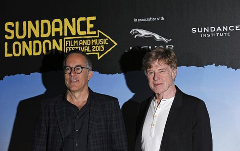 Director of the Sundance Film Festival, John Cooper (L), and President and founder of the Sundance Institute, Robert Redford, pose for photo