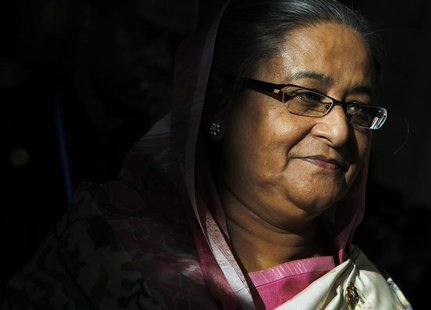 Bangladesh Prime Minister Sheikh Hasina leaves after the closing ceremony of the ASEM Summit in Vientiane November 6, 2012. REUTERS/Sukree S