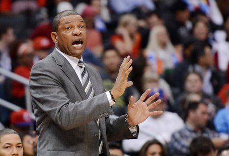 Los Angeles Clippers head coach Doc Rivers during the game against the Chicago Bulls at Staples Center. Jayne Kamin-Oncea-USA TODAY Sports