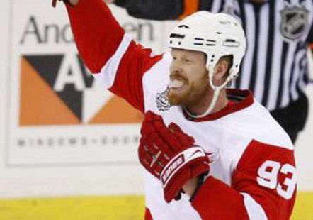 Detroit Red Wings left wing Johan Franzen  REUTERS/Shaun Best