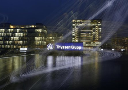 General view of headquarters of Germany's top steelmaker ThyssenKrupp in Essen November 18, 2013. REUTERS/Ina Fassbender