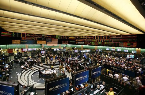 Traders work on the floor of the New York Mercantile Exchange, September 30, 2008. REUTERS/Lucas Jackson