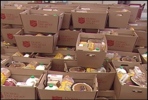Salvation Army holiday food boxes