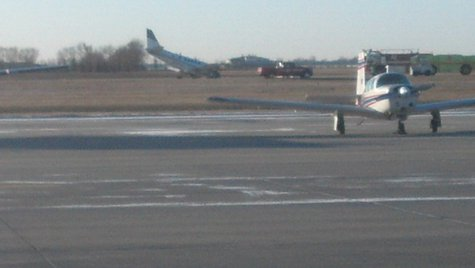 Plane makes rough landing at Fargo Jet Center