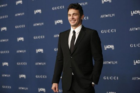 Actor James Franco poses at the Los Angeles County Museum of Art (LACMA) 2013 Art+Film Gala in Los Angeles, California November 2, 2013. REU