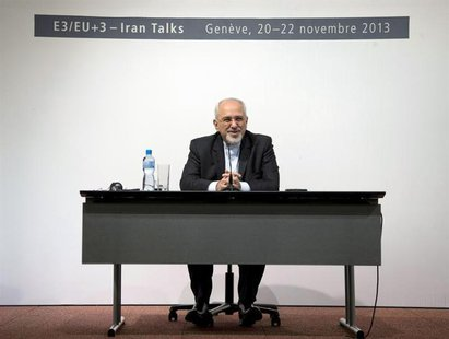 Iranian Foreign Minister Mohammad Javad Zarif speaks to the media about the deal that has been reached between six world powers and Iran at