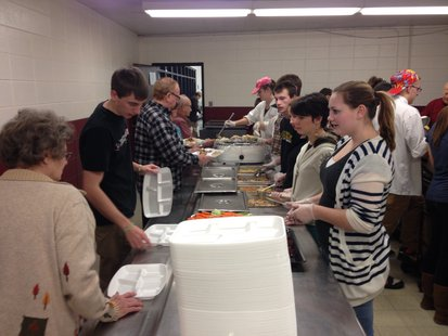 Elkhart Lake-Glenbeulah FCCLA members serve students and senior citizens for the annual Thanksgiving meal.