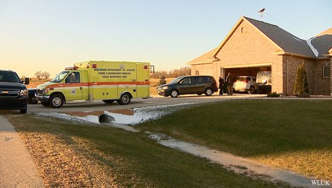 Authorities investigate a suspicious death in Ledgeview, Nov. 27, 2013. (Photo from: FOX 11).