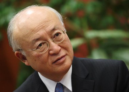 Yukiya Amano, director general of the International Atomic Energy Agency (IAEA), talks during an interview with Reuters in Vienna November 1