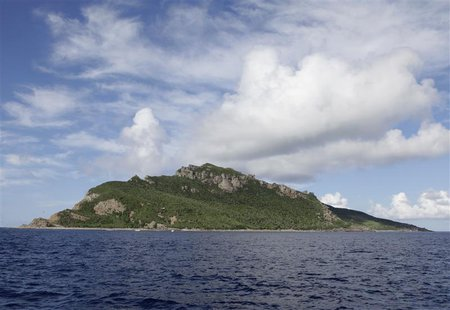 A group of disputed islands known as Senkaku in Japan and Diaoyu in China is seen from the city government of Tokyo's survey vessel in the E