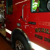 Merill Fire Department truck parked in the firehouse. copyright 2013 Midwest Communications, Inc.