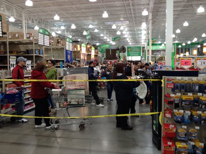 Sheboygan's Menards was busy