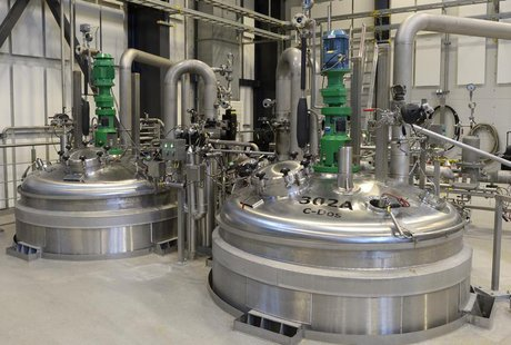 A view shows kettles at an insulin production line in Novo Nordisk's plant in Kalundborg November 4, 2013. REUTERS/Fabian Bimmer