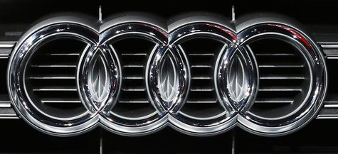 The Audi logo is pictured during the 2013 Los Angeles Auto Show in Los Angeles, California November 20, 2013. REUTERS/Lucy Nicholson