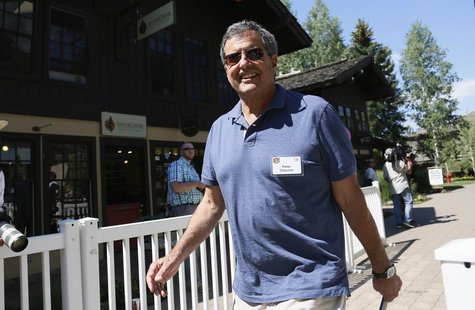 Peter Chernin, CEO of The Chernin Group, arrives for lunch at the annual Allen and Co. conference at the Sun Valley, Idaho Resort July 10, 2