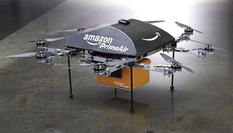 An Amazon PrimeAir drone is shown in this publicity photo released to Reuters on December 2, 2013. REUTERS/Amazon.com/Handout via Reuters
