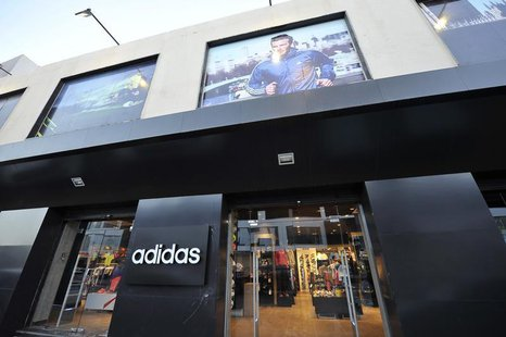 A view of an Adidas shop along Venice Street in Benghazi November 7, 2013. REUTERS/Esam Omran Al-Fetori