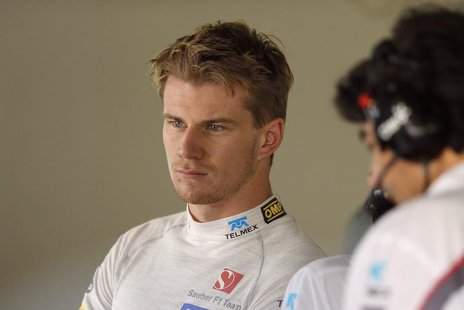 Sauber Formula One driver Nico Hulkenberg of Germany attends the first practice session of the Japanese F1 Grand Prix at the Suzuka circuit