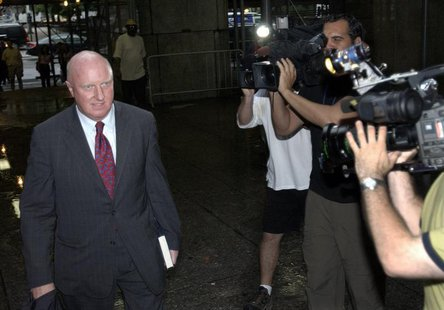 Former Tyco International Ltd. Chief Executive Dennis Kozlowski arrives at State Supreme Court in New York June 10, 2005, for the seventh da