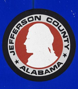 The Jefferson County, Alabama logo is seen on a sign in the county August 9, 2011. REUTERS/Marvin Gentry