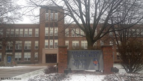 Appleton West High School is seen, Dec. 3, 2013. (Photo from FOX 11).