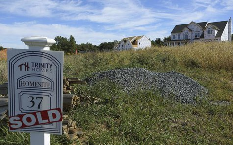 A new subdivision project of residential homes in shown in Glenelg, Maryland September 25, 2013. REUTERS/Gary Cameron