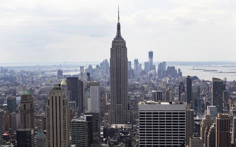 The Empire State Building is seen from the Top of The Rock in New York April 25, 2012. REUTERS/Shannon Stapleton