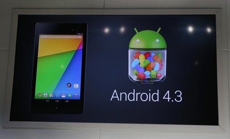 Google's Android 4.3 operating system, is announced to be installed in the new Nexus 7 tablet, during a Google event at Dogpatch Studio in S