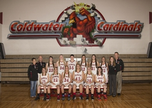 2013-2014 Coldwater girls varsity basketball team