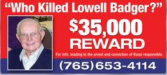 Lowell Badger billboard