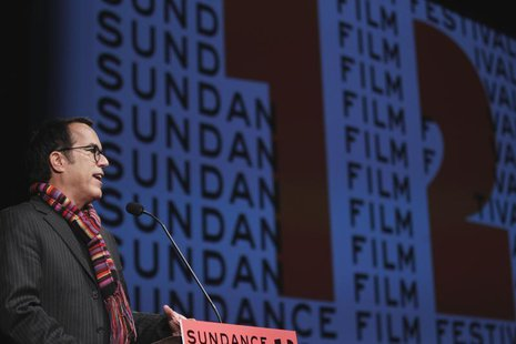 "Sundance Film Festival director John Cooper welcomes the audience before the opening night premiere of the documentary ""The Queen Of Versail"