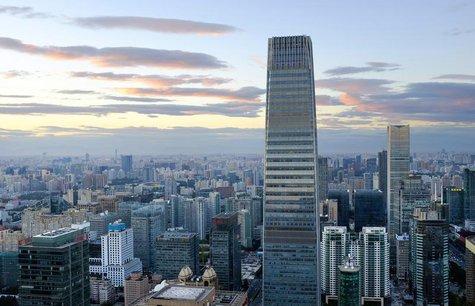 The China World Trade Center Tower III and other buildings are seen in Beijing's central business district August 29, 2013. REUTERS/Jason Le