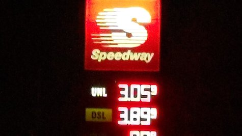 This price was available at the Speedway on Gull Road Wednesday night.