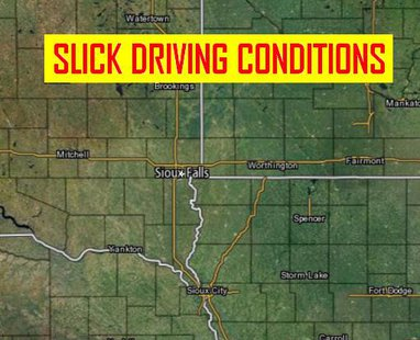 KELO AM listeners face slick driving conditions for this morning's commute.  Check KELO.com for school late starts.  (MB Image)