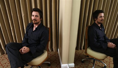 "British actor Christian Bale poses for a portrait while promoting his upcoming movie ""Out of the Furnace"" in Los Angeles, California Novembe"