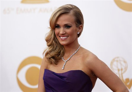 "Actress and singer Carrie Underwood from ABC's series ""Nashville"" arrives at the 65th Primetime Emmy Awards in Los Angeles in this September"