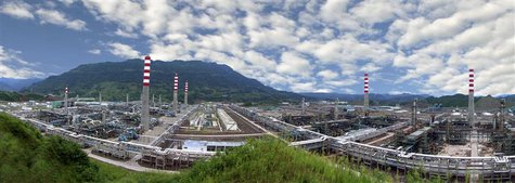 A gas purifying plant is seen at Sinopec's Puguang gas field in Dazhou, Sichuan province, in this handout picture taken August 29, 2009 and