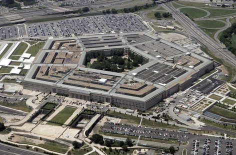 An aerial view of the Pentagon building in Washington, June 15, 2005. REUTERS/Jason Reed